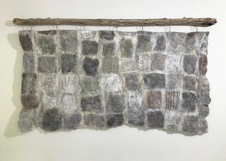 'Wall' handmade felt wallhanging