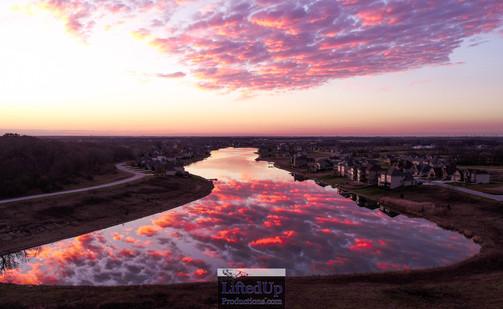 Sunset over Doubletree Lake Estates