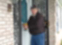 Locksmith unlocking door