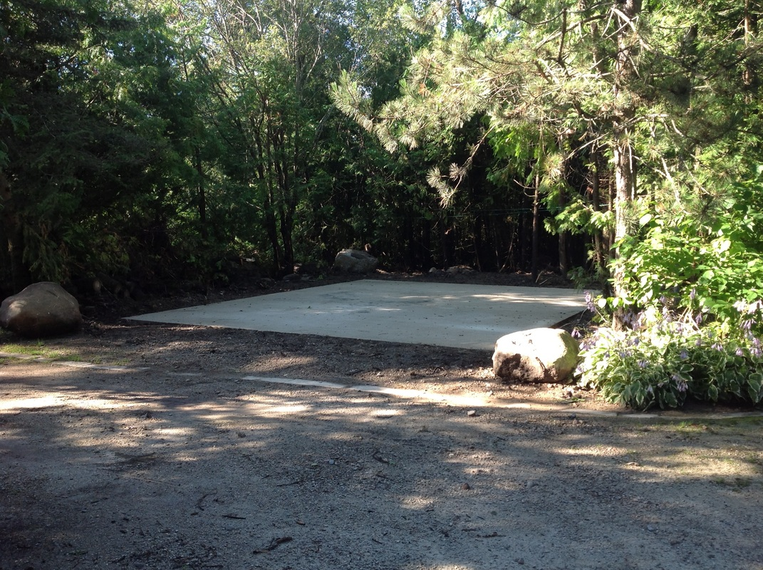 There came a concrete pad