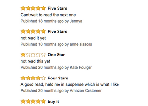 """Reviews from Hell-""""One star-Not read it yet"""""""