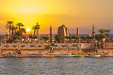 River Nile Luxor Egypt, Beautiful yellow