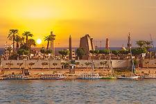 River Nile Luxor Egypt, Beautiful yellow