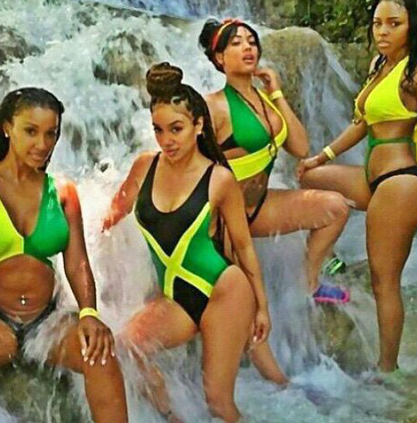 Girls in Jamaican Swimsuits DTC4F