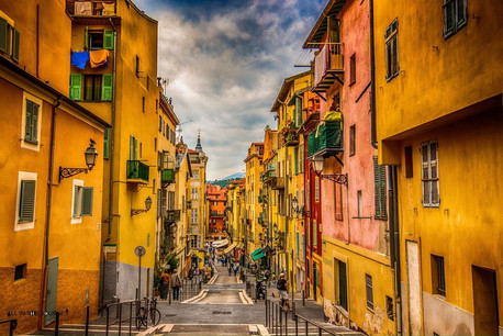 The streets of Nice in France