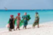 Women on the beach -Tanzania