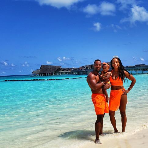 The Dunston Family in The Maldives