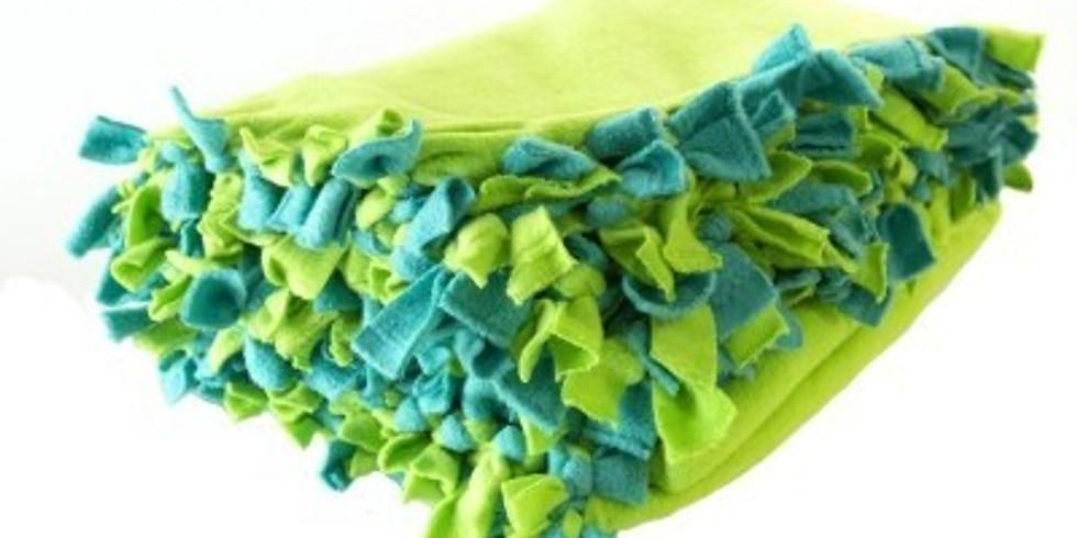 Blankets for Blessings Event - Making Tie Fleece Blankets