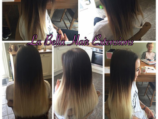"Ombré Full Head 18"" La Bella Hair Extensions"