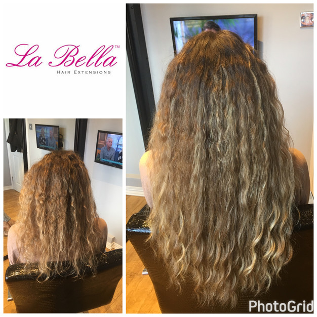 Naturally curly hair extensions la bella nano ring hair extensions and notty la bella brazilian hair extensions are naturally curly no perming is needed on this hair its soft and blends perfectly with your own hair pmusecretfo Choice Image