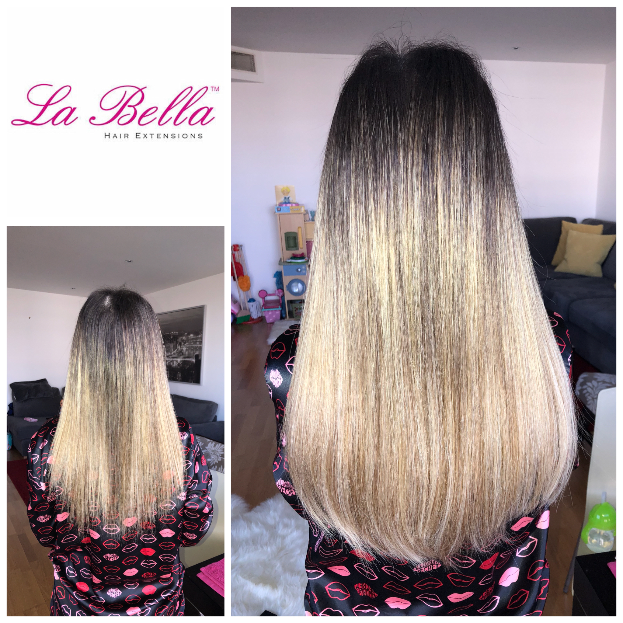 Everyone Loves Ombre La Bella Nano Ring Hair Extensions