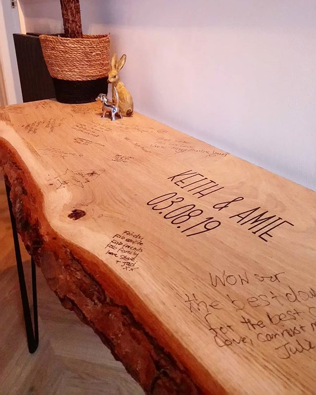 Guest book tables delivered ready to be