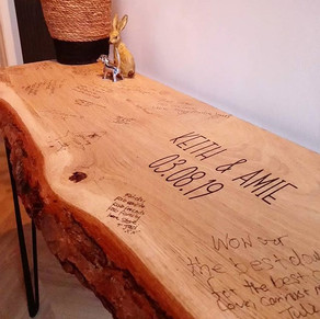 Guest book tables