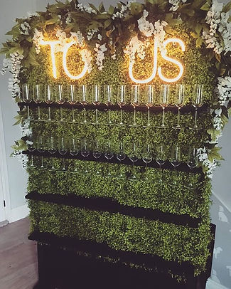 Prosecco Wall Hire North East