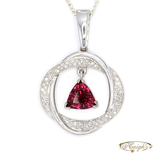 Tourmaline & Diamond Pendant