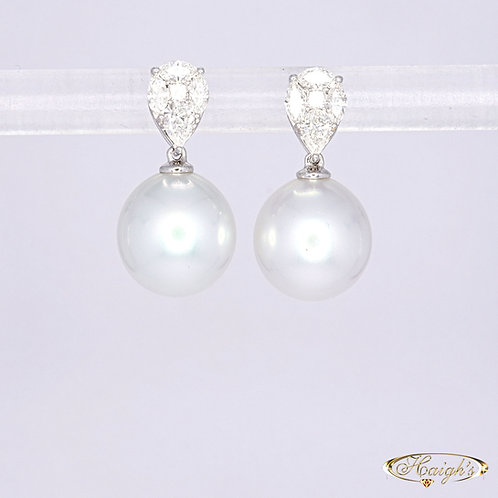 Autore Pearls & Diamond Earrings