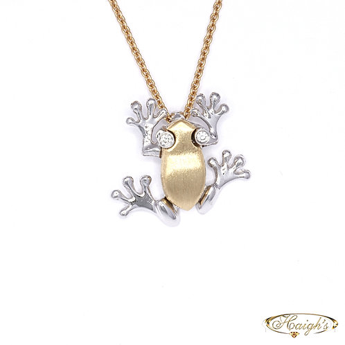 Diamond Set Frog Pendant