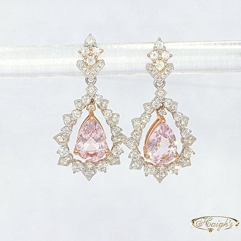18kt White & Rose Gold Earrings