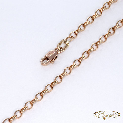 9kt Rose Gold Chain