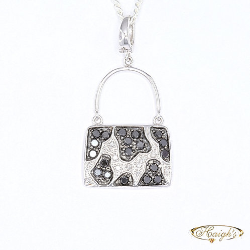 Diamond Set Handbag Pendant