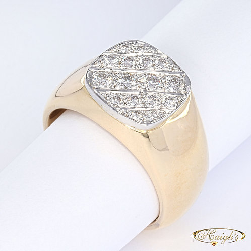Diamond Set Gents Ring