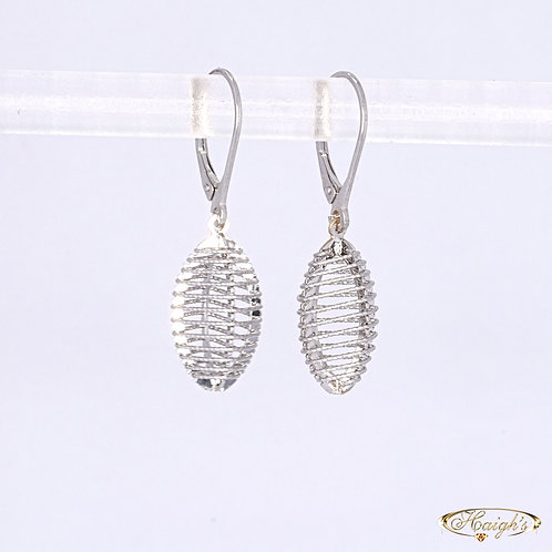 9kt White Gold Earrings