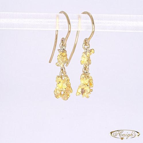 18kt Gold Nugget Earrings
