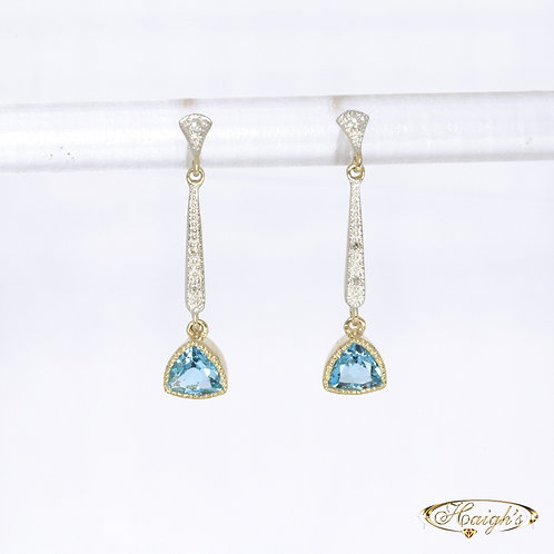 Topaz & Diamond Earrings