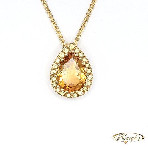 Citrine & Sapphire Pendant