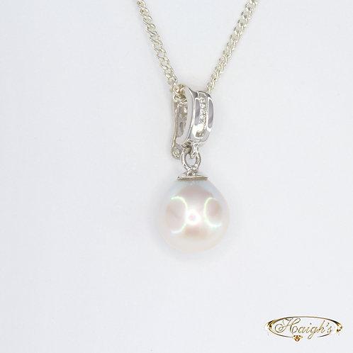 Fraser Island Pearl & Diamond Pendant