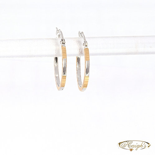 18kt White & Yellow Gold Earrings