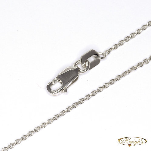 9kt White Gold Chain