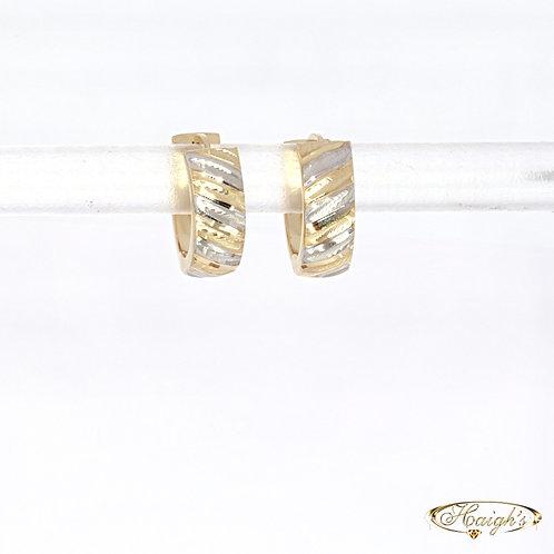 14kt Two Tone Earrings