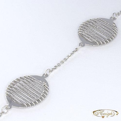 9kt White Gold Bracelet