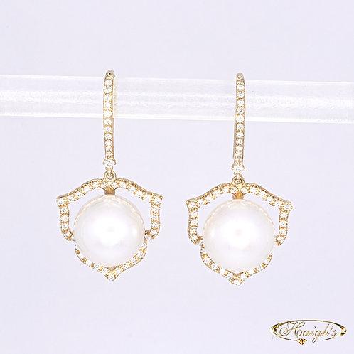Autore Pearl & Diamond Earrings