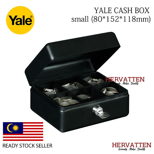 YALE YCB/080/BB2 CASH BOX - SMALL (BLACK)