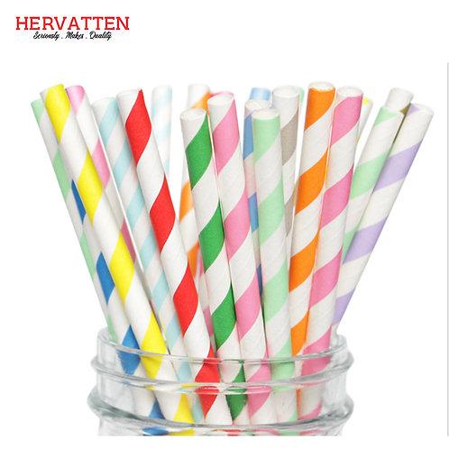Paper Straws Biodegradable Paper Drinking Straw Striped Straw
