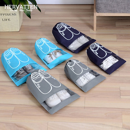 Hervatten Drawstring Travel Shoes Storage Bag (Couple Set)