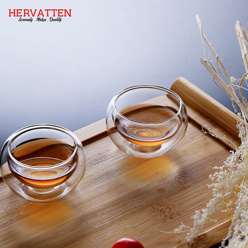 Double Layer Chinese Small Tea Cups 50ML