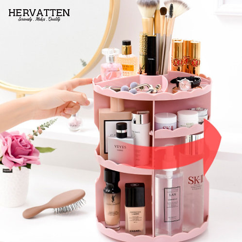 Hervatten 360 Degree Rotating Make Up Tools And Cosmetics Organiser Rack