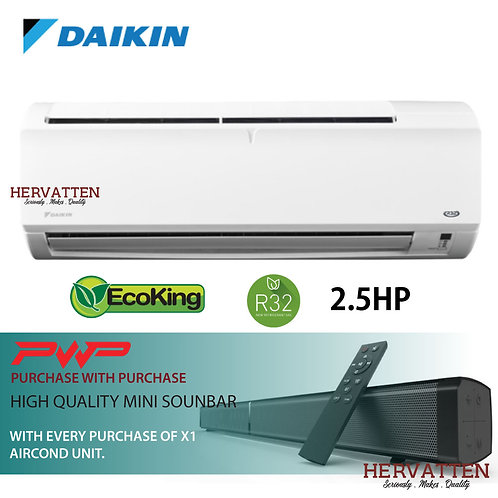 Daikin InnoVaire P-Series Wall Mounted Non-Inverter 2.5HP R32