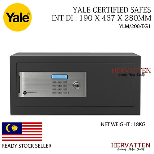 YALE YLM/200/EG1 CERTIFIED DIGITAL SAFE (LAPTOP)