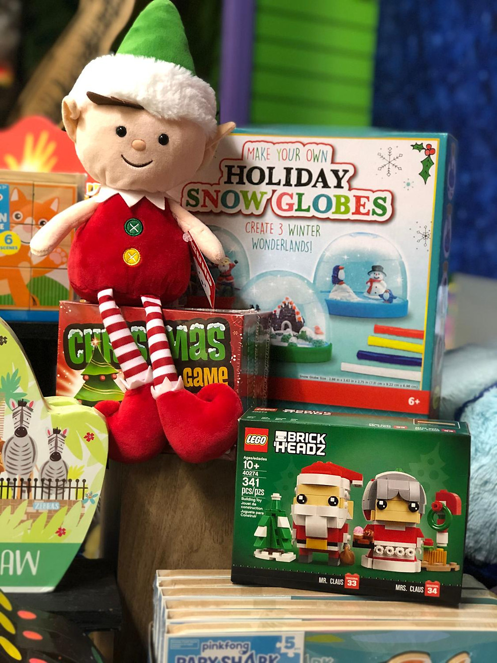 Elf plush, Lego Christmas sets, Winter crafts