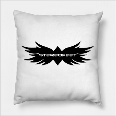 Stereofeet Logo Throw Pillow