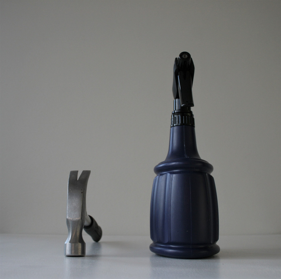 Hammer and spray bottle (2020)