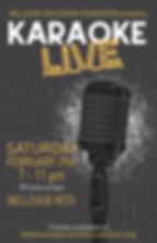 Karaoke poster 2020 ticket info REDUCED