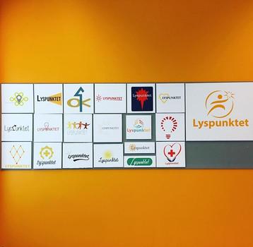 Diverse logoarbeid på VG2. Oppdrag for Lyspunktet.