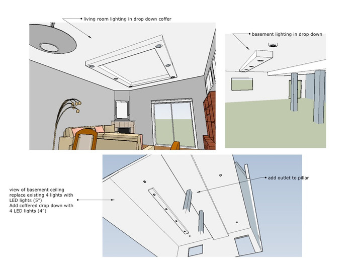3-D rendering to give client and trades a clear idea of what to do.