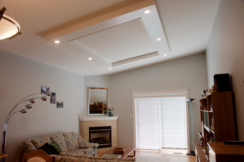 Lighting panel added to ceiling