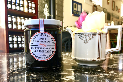 Clayburn Creek Blueberry Lime and Ginger Jam